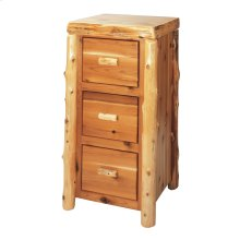 Cedar Three Drawer File Cabinet