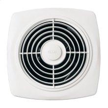 "8"" 180 CFM Through Wall Ventilation Fan, White Square Plastic Grille"