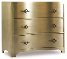 Living Room Sanctuary Three-Drawer Shaped Front Gold Chest