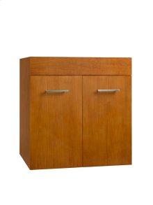 "Bella 23"" Wall Mount Bathroom Vanity Base Cabinet in Cinnamon"