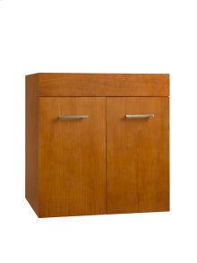 "Bella 23"" Wall Mount Bathroom Vanity Base Cabinet in Cinnamon"