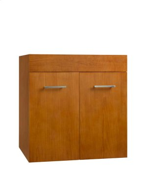 "Bella 23"" Wall Mount Bathroom Vanity Base Cabinet in Cinnamon Product Image"