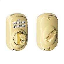 Plymouth Trim Keypad Deadbolt - Bright Brass