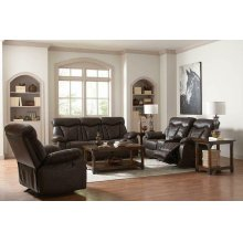 Zimmerman Casual Dark Brown Motion Loveseat