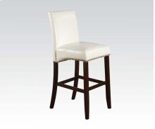 WHITE PU COUNTER H. CHAIR