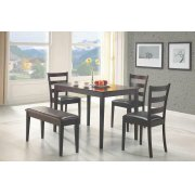 Taraval Cappuccino Five-piece Dining Set With Bench Product Image