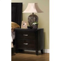 Nacey Dark Brown Two-drawer Nightstand Product Image