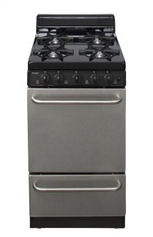20 in. Freestanding Gas Range in Stainless Steel