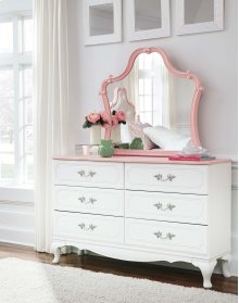 Laddi - White/Pink 2 Piece Bedroom Set
