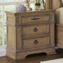Ilana Traditional Three-drawer Nightstand