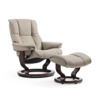 Stressless Mayfair Small Classic Base Chair and Ottoman Product Image