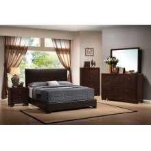 Conner Casual Dark Brown Queen Four-piece Set