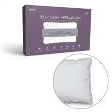 Sleep Plush + GelSoft Medium Density Fiber Pillow, Standard / Queen