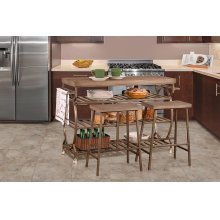Paddock Three-piece Kitchen Cart Set