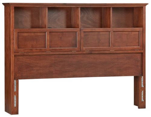 GAC McKenzie Cal-King Bookcase Headboard