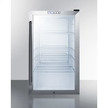 Commercial Built-in Capable Beverage Merchandiser With Glass Door, Stainless Steel Cabinet, Front Lock, and Digital Thermostat