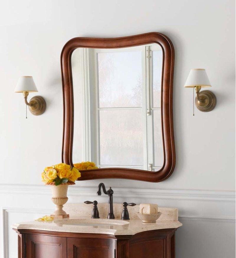 F In Colonial Cherry By Ronbow In Dallas TX Vintage Fancy - Cherry wood bathroom mirror