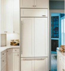 "30"" Sub-Zero 611 Over-Under Bottom Freezer Refrigerator Overlay, Accepts Custom Panels, with Ice Maker"