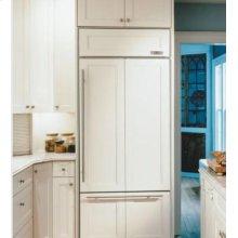 "30"" Sub-Zero 611 Over-Under Bottom Freezer Refrigerator Overlay, Accepts Custom Panels, with Ice Maker"