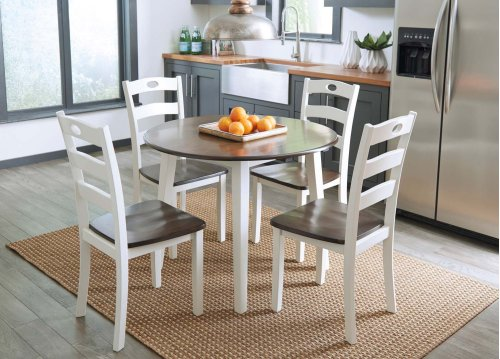 Woodanville - White/Brown 5 Piece Dining Room Set
