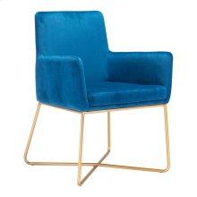 Honoria Arm Chair Dark Blue Velvet