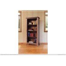 Bookcase, 12 different positions available for shelves (includes 2 removable shelves, (1 middle fixed shelf+2)
