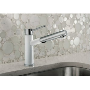 Blanco Alta Compact Pull-out Dual 1.8 Silgranit - Truffle