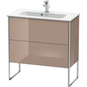 Vanity Unit Floorstanding Compact, Cappuccino High Gloss Lacquer