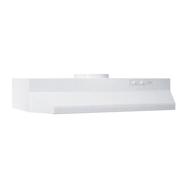 """Broan 30"""", White, Under-Cabinet Hood, 190 CFM"""