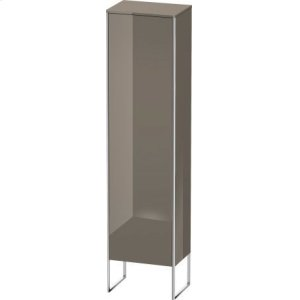 Tall Cabinet Floorstanding, Flannel Gray High Gloss Lacquer