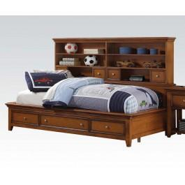 Lacey Cherry Oak Twin Daybed Hidden