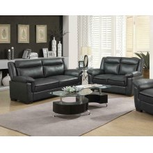 Arabella Brown Faux Leather Two-piece Living Room Set