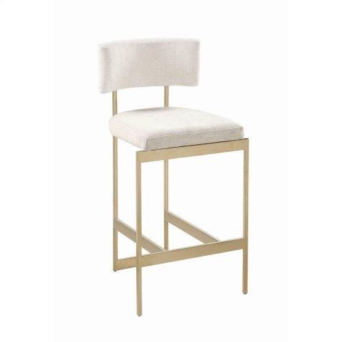 Modern Beige and Brass Counter-height Stool