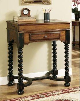 Home Office Jacobean Twist Leg Flip Top Writing Desk