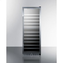 122 Bottle Dual Zone Wine Cellar With Seamless Stainless Steel Trimmed Glass Door, Lock, and Digital Controls