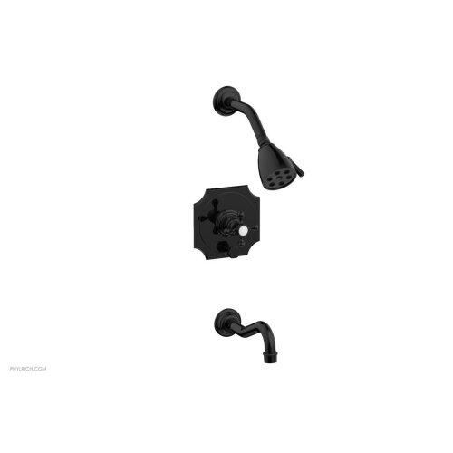 HENRI Pressure Balance Tub and Shower Set 161-29 - Gloss Black