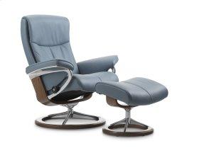 Stressless Peace Medium Signature Base Chair and Ottoman