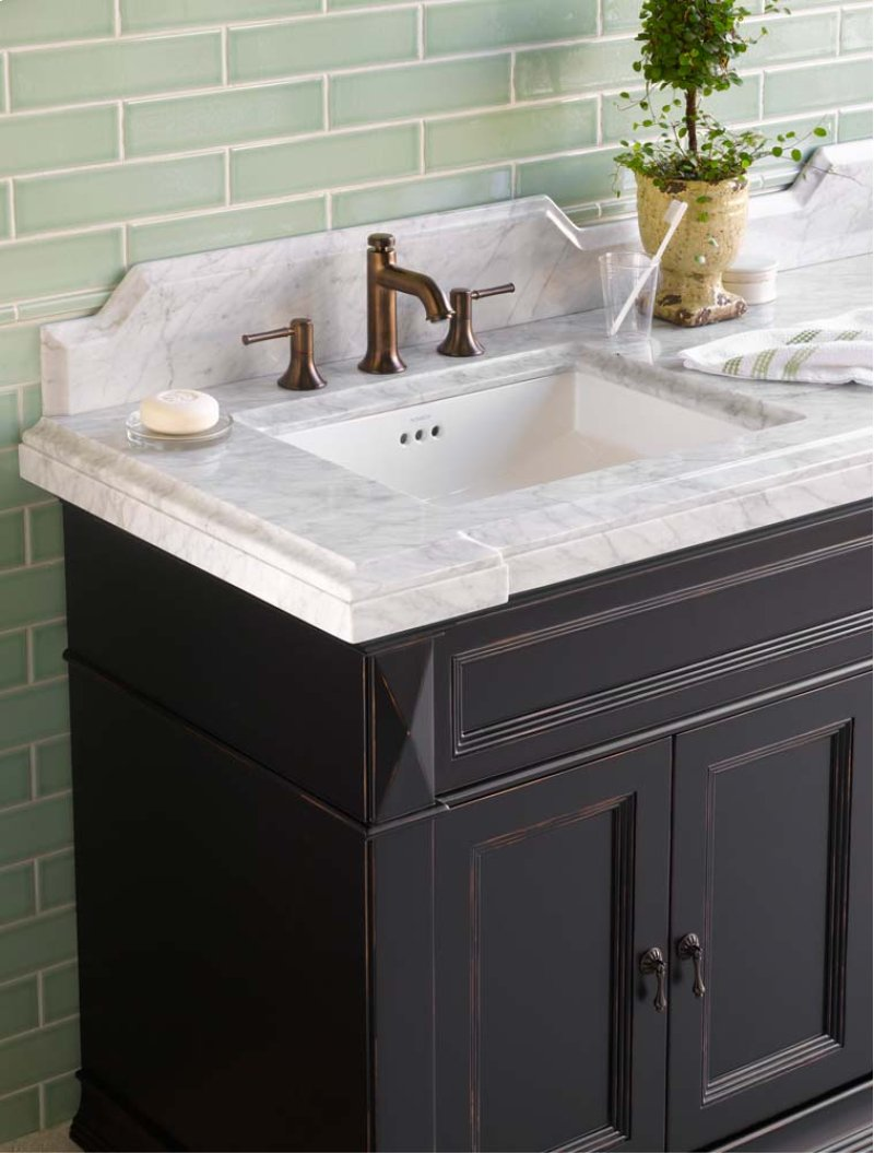 Hidden Additional Torino 73 X 22 Marble Vanity Top In Carrara White