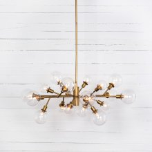 Matte Brass Finish Pellman Chandelier