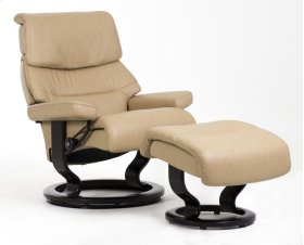 Stressless Capri Medium Classic Base Chair and Ottoman