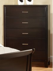 Whi Concord 5 Drawer Chest In Coffee Product Image