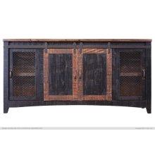 TV-Stand w/2 Doors, 2 Mesh Doors