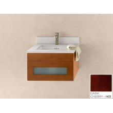 "Rebecca 23"" Wall Mount Bathroom Vanity Base Cabinet in Dark Cherry"