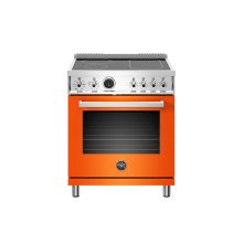 30 inch Induction Range, 4 Heating Zones, Electric Self-Clean Oven Arancio