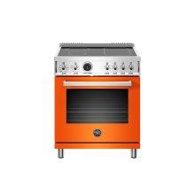 30 inch Induction Range, 4 Heating Zones, Electric Self-Clean Oven Arancio