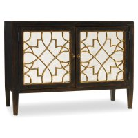 Living Room Sanctuary Two Door Mirrored Console- Ebony Product Image