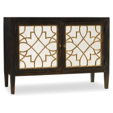 Living Room Sanctuary Two Door Mirrored Console- Ebony
