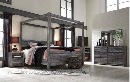Baystorm - Gray 3 Piece Bed Set (King)