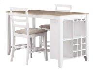 Gardomi - White/Light Brown 3 Piece Dining Room Set Product Image