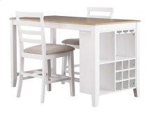 Gardomi - White/Light Brown 3 Piece Dining Room Set